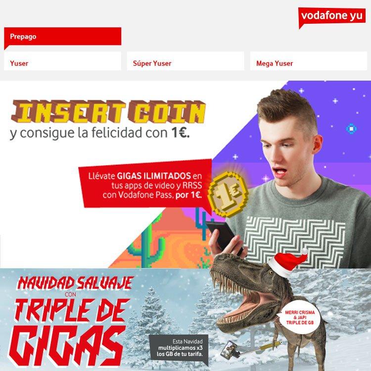 oferta de Pass en Vodafone Yu prepago