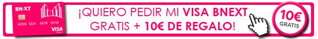 tarjeta Bnext con 10 euros gratis