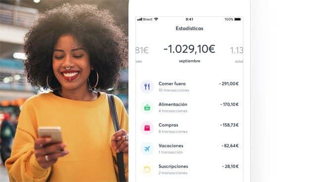 La tarjeta Bnext se controla desde una app para Android e iOS