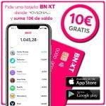 pide tarjeta Bnext con Movilonia y suma 10 euros gratis