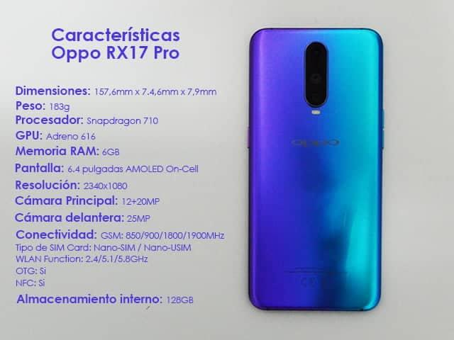 características del Oppo RX17 Pro