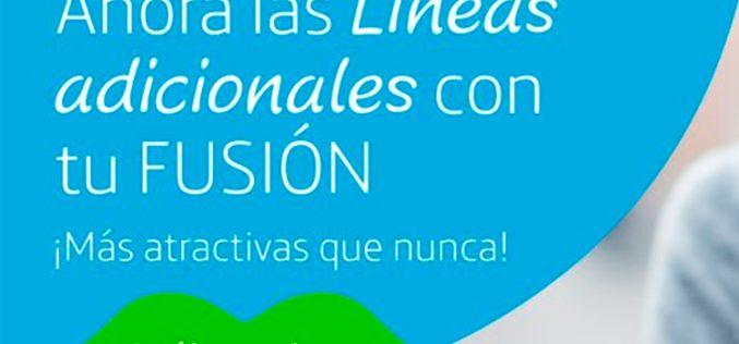 Movistar Fusión refuerza su apuesta por las líneas móviles adicionales