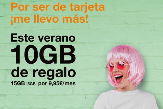10GB gratis con el prepago de Orange