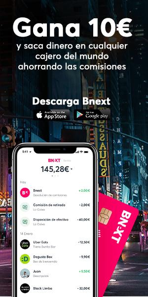 oferta tarjeta Bnext con 10 euros gratis