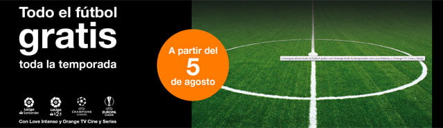 fútbol gratis con Orange TV