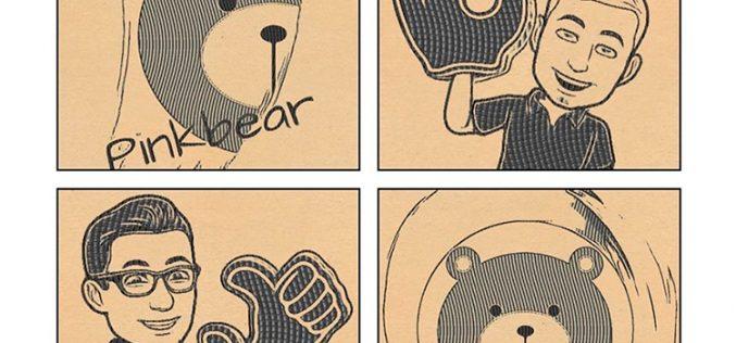 PinkBear, el oso rosa que quiere abrazar a millenials y yayos