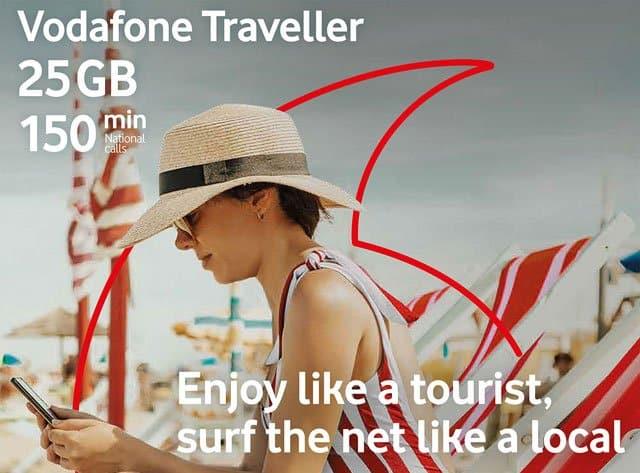 Vodafone Traveller, tarjeta SIM oara turistas