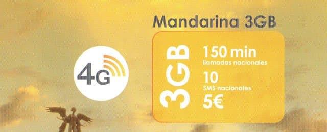 tarifa Mandarina You Mobile 3GB
