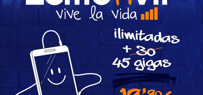 Lemonvil renueva sus tarifas móviles y se rinde a la fibra óptica