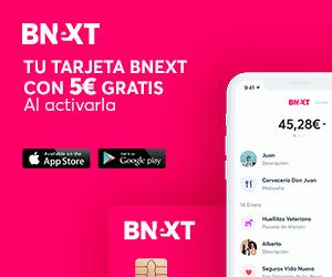oferta tarjeta Bnext con 5€ gratis