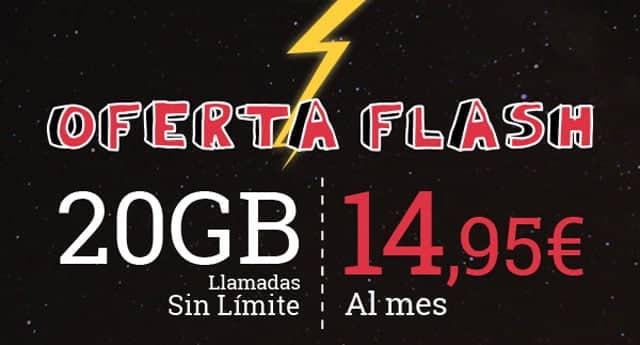 oferta flash de la tarifa de 20GB de Lowi