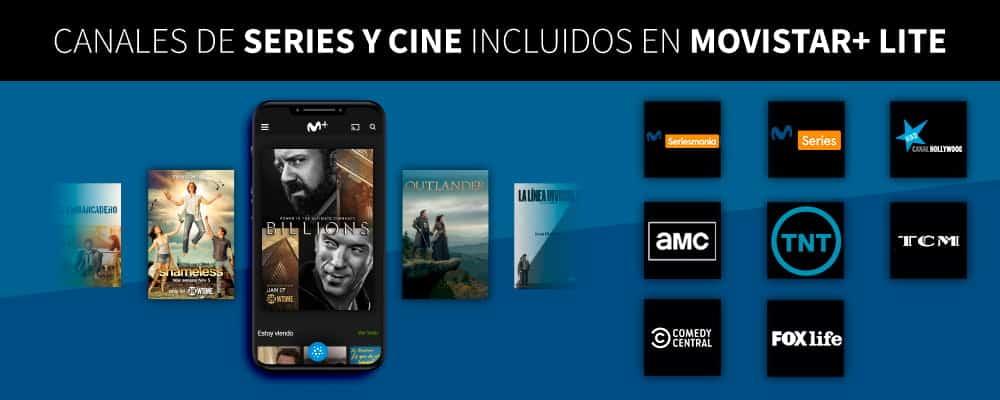 canales de series y cine de Movistar+ Lite