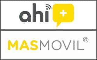 Logo de Ahí+ y Masmóvil