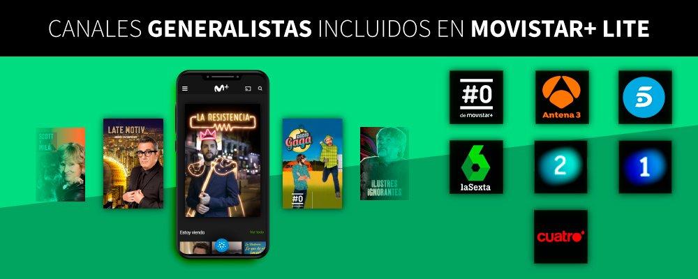 canales generalistas de Movistar+ Lite
