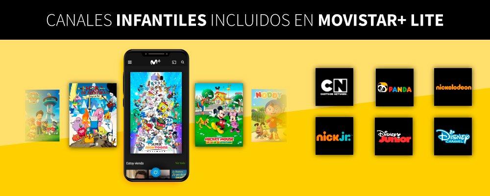 canales infantiles de Movistar+ Lite