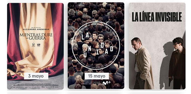 estrenos de mayo en Movistar+ Lite
