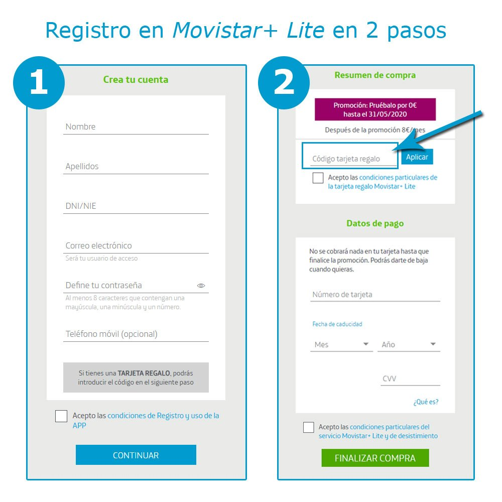 registro en Movistar+ Lite