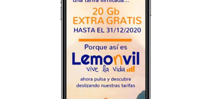 El idilio de Lemonvil y el 4G extra no termina: 20GB gratis hasta final de año