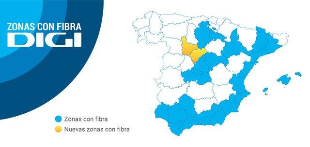 la fibra de Digi llega a Segovia y Valladolid