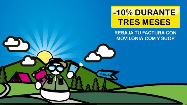oferta de las tarifas de contrato de Suop para Movilonia.com