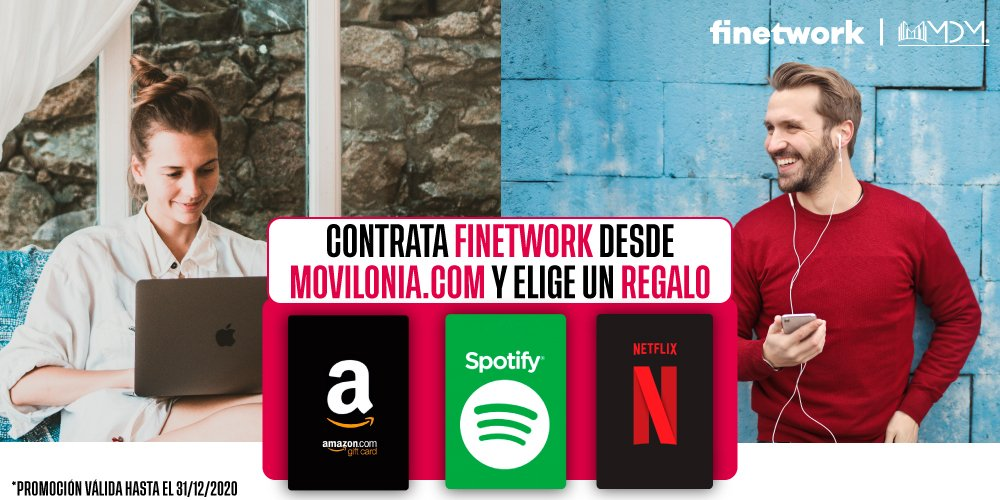 oferta exclusiva de Movilonia.com con Finetwork
