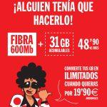tarifa Inimitable de Pepephone con 31GB