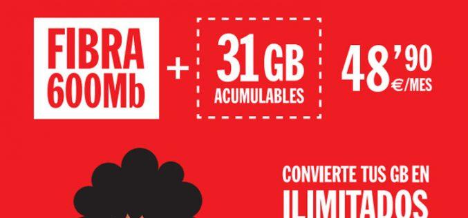 La tarifa Inimitable de Pepephone pega otro estirón hasta los 31GB