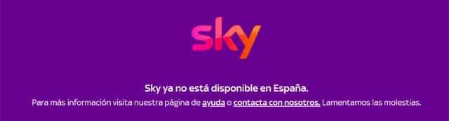 aviso de Sky