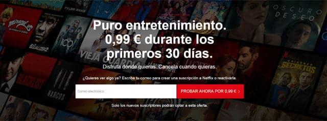 suscripción a Netflix por 99 céntimos