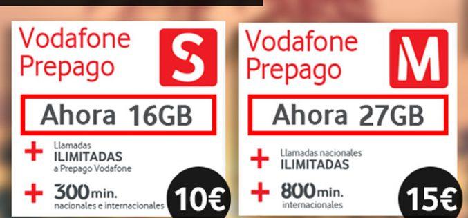 Vodafone mejora su oferta de verano para sus tarifas prepago S y M