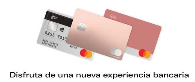 tarjetas del banco móvil N26