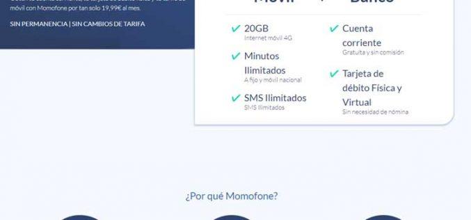 Momofone, el OMV que aúna tarifa móvil y cuenta bancaria