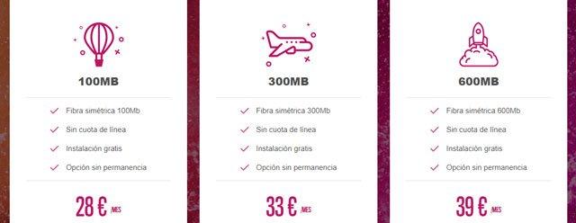 tarifas de fibra de Oléphone