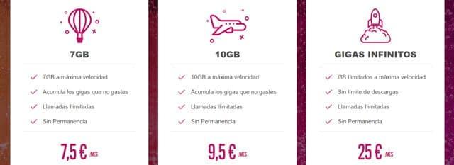 tarifas móviles de Oléphone