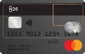 tarjeta Mastercard N26 transparente
