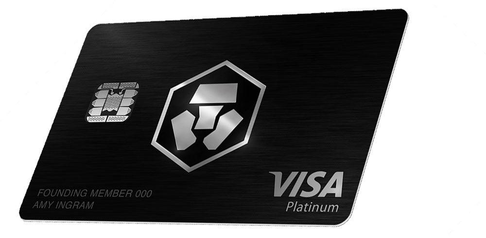 Visa Crypto.com de color negro