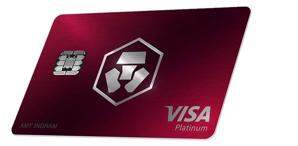 Visa Crypto.com de color rojo