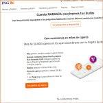 comisiones por la Cuenta Naranja de ING