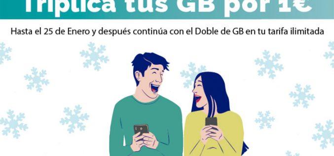 Triple de GB por un euro: PTV Telecom se vuelca con la Navidad