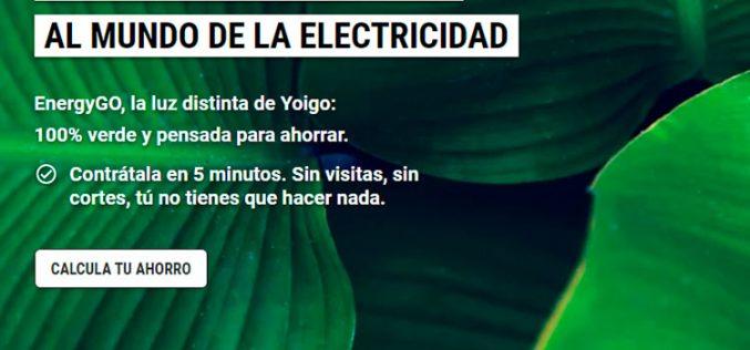 EnergyGO: Yoigo carga la energía de su porfolio con sus nuevas tarifas de luz