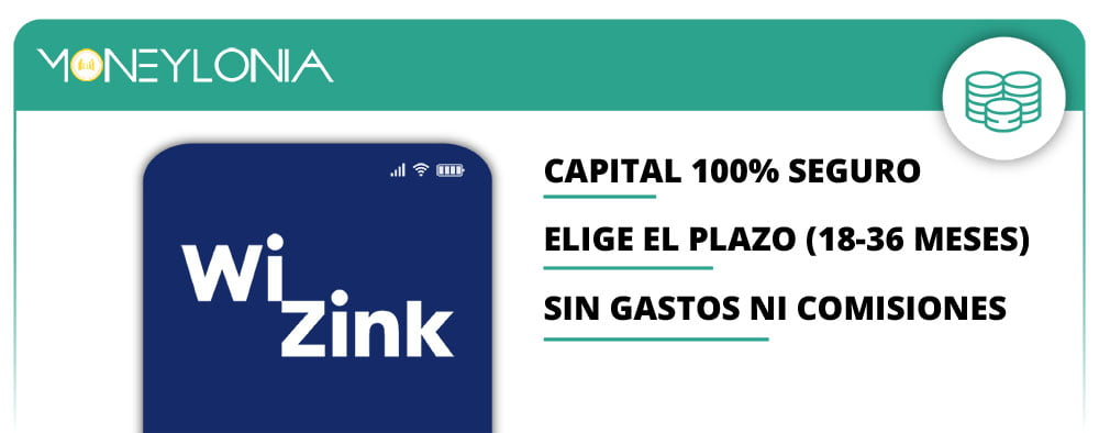 depositos y cuenta Ahorro de WiZink