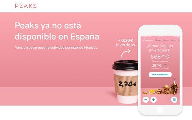 cierre de Peaks en España