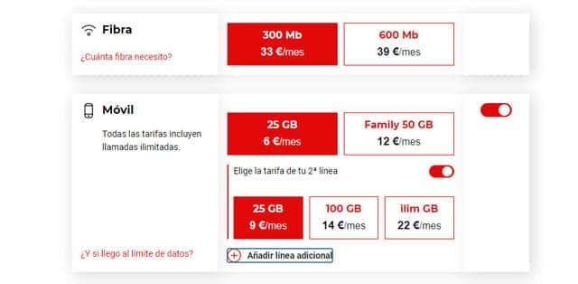 lineas móviles adicionales de Virgin Telco