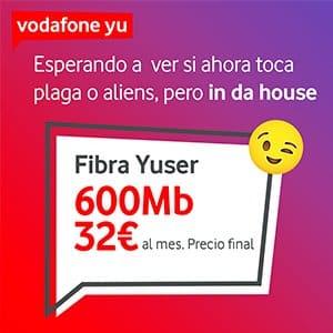 oferta solo fibra óptica Vodafone Yu