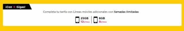 tarifas para móviles adicionales de Jazztel