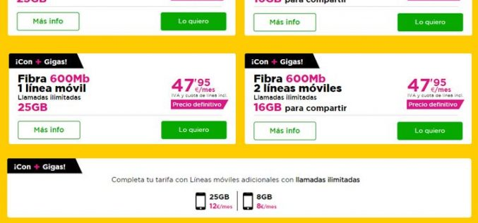 Jazztel suma GB a sus tarifas y añade la opción de compartirlos