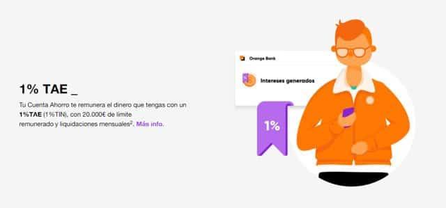 cuenta de ahorro de Orange Bank