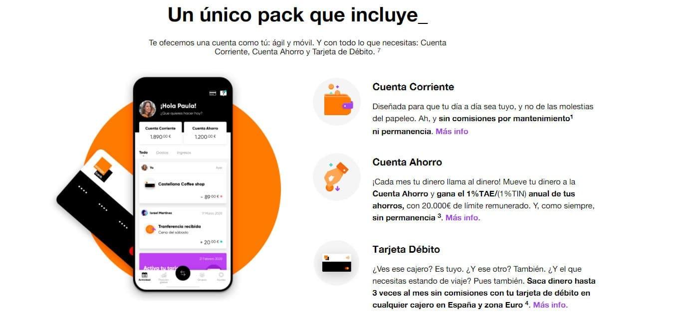cuenta y tarjeta Mastercard de Orange Bank