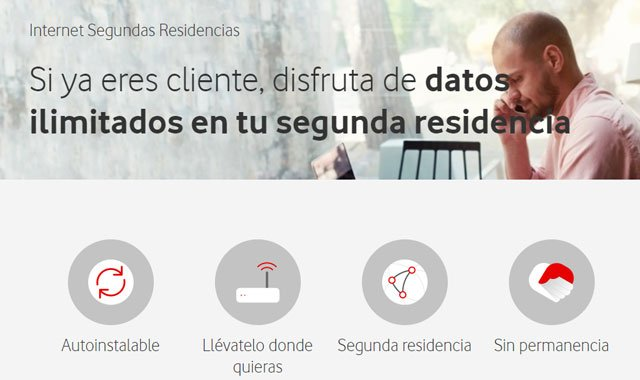 Internet para segunda residencia de Vodafone