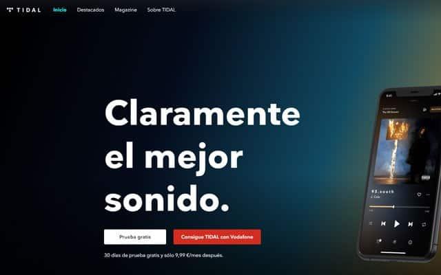 oferta de Tidal con Vodafone Yu